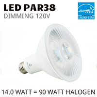 PAR38 LED LAMP 14.0 WATT FL40° 3000K 80 CRI DIMMABLE 120V GREEN CREATIVE #57809 14PAR38DIM/830FL40