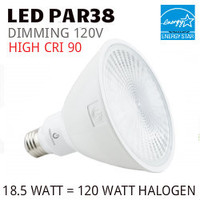 PAR38 LED LAMP 18.5 WATT SP15° 3000K 90 CRI DIMMABLE 120V GREEN CREATIVE #16150 17PAR38G4DIM/930SP15