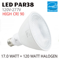 PAR38 LED LAMP 17.0 WATT FL40° 3000K 90 CRI 277 VOLT GREEN CREATIVE #16161 17PAR38G4/930FL40/277V