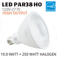 PAR38 LED LAMP 19.0 WATT NF25° 3000K 80 CRI 277V HO GREEN CREATIVE #97772 19PAR38HO/830NF25/277V