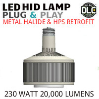 LED HID RETROFIT LAMP PLUG&PLAY REPLACES 400W-250W HID E39 4000K LUNERA SN-V-E39-B-20KLM-840-G3