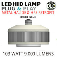 LED HID RETROFIT LAMP PLUG&PLAY REPLACES 250W-150W HID E39 5000K LUNERA SN-VS-E39-B-9KLM-850-G3