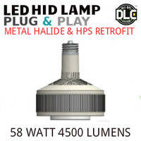 LED HID RETROFIT LAMP PLUG&PLAY REPLACES 150W-70W HID E26 4000K LUNERA SN-V-E26-B-5KLM-840-G3