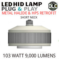 LED HID RETROFIT LAMP PLUG&PLAY REPLACES 250W-150W HID E26 3500K LUNERA SN-VS-E26-B-9KLM-835-G3