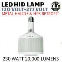 LED HID RETROFIT LAMP 120V-277V REPLACES 400W-250W HID E39 5000K LUNERA SN-V-E39-L-20KLM-850-G3