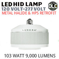 LED HID RETROFIT LAMP 120V-277V REPLACES 250W-150W HID E39 3500K LUNERA SN-VS-E39-L-9KLM-835-G3