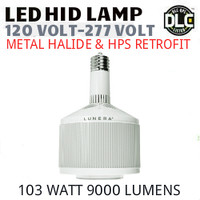 LED HID RETROFIT LAMP 120V-277V REPLACES 250W-150W HID E26 3500K LUNERA SN-V-E26-L-9KLM-835-G3