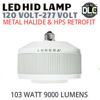 LED HID RETROFIT LAMP 120V-277V REPLACES 250W-150W HID E26 3500K LUNERA SN-VS-E26-L-9KLM-835-G3