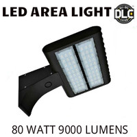 LED AREA LIGHT LUMINAIRE 80 WATT 9000 LUMENS 5000K VE LAL-80-5000K