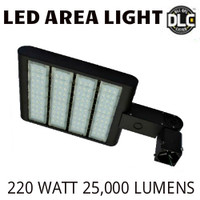 LED AREA LIGHT LUMINAIRE 220 WATT 25,000 LUMENS 5000K VE LAL-220-5000K