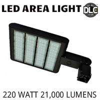 LED AREA LIGHT LUMINAIRE 220 WATT 21,000 LUMENS 4000K VE LAL-220-4000K