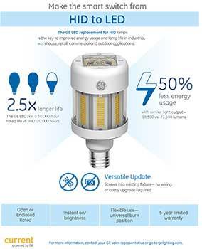 LED HID L& Plugu0026Play Retrofits MH400W 18500 Lumens 4000K GE LED130/2M400/740  sc 1 st  Provision L& & GE 43252 LED130/2M400/740 LED HID Lamp | Provision Lamp