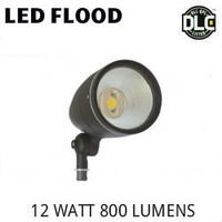 LED BULLET FLOOD FIXTURE 12 WATT 800 LUMENS 5000K BEST LEDSL12W-5K
