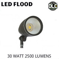 LED BULLET FLOOD FIXTURE 30 WATT 2500 LUMENS 5000K BEST LEDSL30W-5K