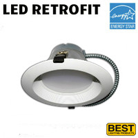 LED 8 Inch Down Light Kit 27W 2000 Lumens 50K Best BRK-LED8A-BW-50K-ECO