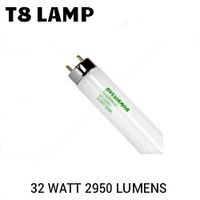T8 4FT FLUORESCENT TUBE 32 WATT 2925 LUMENS 4100K SYLVANIA FO32T8/841/ECO