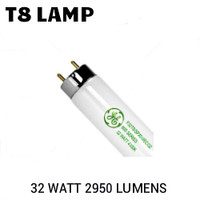 T8 4FT FLUORESCENT TUBE 32 WATT 2925 LUMENS 5000K GE F32T8/SPX50/ECO2