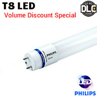 LED T8 4ft Lamp Plug&Play 12W 1650 Lumens 35K Philips 12T8/48-3500 IF LED TAA