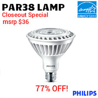 LED Par38 13W 950 Lumens 30K NF25° Philips 13PAR38/LED/F25 3000 DIM