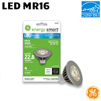LED MR16 Lamp 4.5W 210 Lumen 30K GE LED4MR16/NFL/TP 3000K