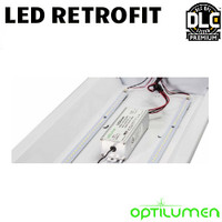 LED 2X4 Troffer Retrofit Kit 40W 5650 Lumens Dim 50K Optilumen RKT2418M-50