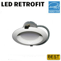 LED 6 Inch Down Light Kit 17W 1500 Lumens 35K Best BRK-LED6A-BW-35K-ECO