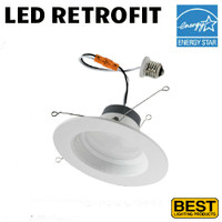 LED 6 Inch Down Light Kit 12W 1000 Lumens 40K Best BRK-LED56-BW-4K-ECO