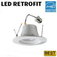 LED 6 Inch Down Light Kit 14W 1050 Lumens 40K Best BRK-LED56-GR-4K-ECO