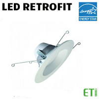 LED 6 Inch Down Light Kit 10.5W 670 Lumens 27K Dim ETI 53167103