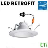LED 6 Inch Down Light Kit 11W 670 Lumens 27K 30K 40K Dim ETI 53186142