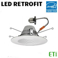 LED 6 Inch Down Light Kit 18W 1300 Lumens 30K Dim ETI 53179111