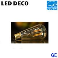 LED Filament Vintage Lamp 5W 440 Lumen 25K Dim 120V GE LED5DST19-V-TP-2P
