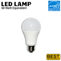 LED A19 Lamp 9W 800 Lumen 40K 120V Best LEDA19-9W-4K