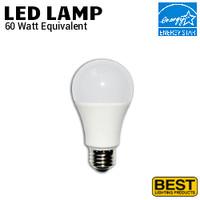LED A19 Lamp 9W 800 Lumen 40K Dim 120V Best LEDA19-9W-4K-DIM