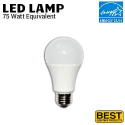 LED A19 Lamp 12W 1100 Lumen 40K Dim 120V Best LEDA19 12W 40K DIM