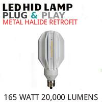 LED METAL HALIDE RETROFIT PLUG&PLAY REPLACES 400 WATT MH E39 4000K GE 21259 LED165/M400/740