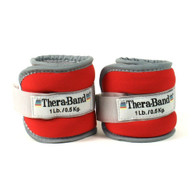 Thera-band Comfort Fit Ankle/Wrist Cuff Weights, Set of 2, Red, 1-Pound