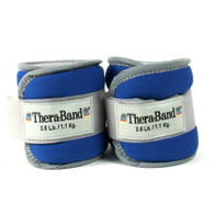 Thera-band 25872 Comfort Fit Ankle/wrist Cuff Weights, Blue, 2.5 Pounds Each Cuff, 1 Pair