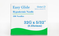 "Easy Glide Hypodermic Needles 32g x 5/32"" - Box of 100"