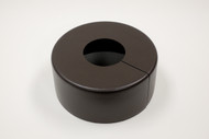 """Round 12"""" Diameter Base Cover with 3"""" Round Opening - 4 1/2"""" Tall - Bronze Paint Finish"""