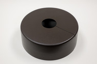 "Round 14"" Diameter Base Cover with 3"" Round Opening - 4 1/2"" Tall - Bronze Paint Finish"