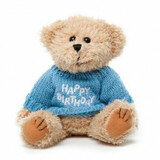 "Message Bear - ""Happy Birthday"" Blue"