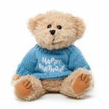 "Message Bear - ""Happy Birthday"" Blue"