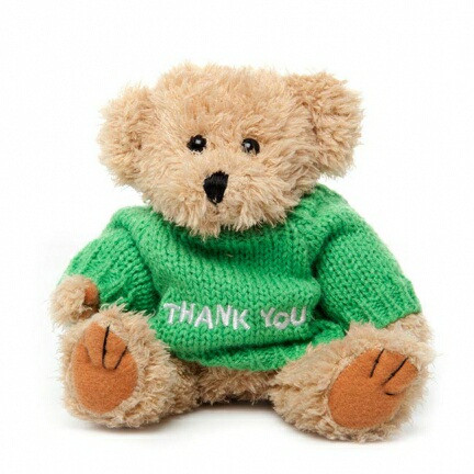 "Message Bear - ""Thank You"""