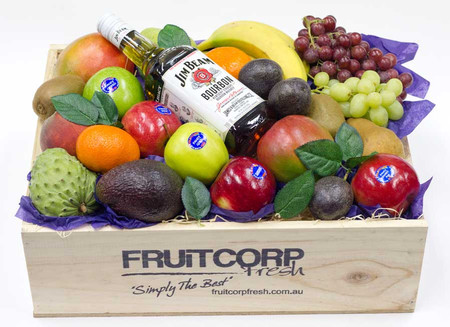 Fathers Day Gift Hamper Jim Beam with Fruit