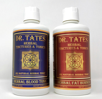 Get the 1-2 PUNCH Combination! Try our New & Improved Dr. Tates Herbal Blood Tonic with our Dr. Tates Herbal Fat Burner and see faster results!