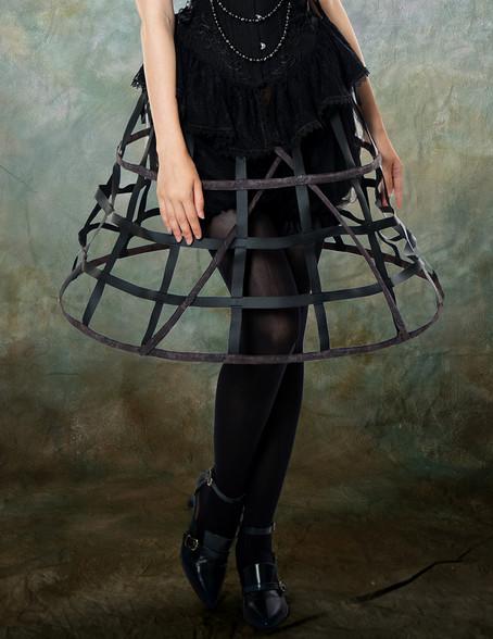 Steampunk Crinoline Petticoat Long Cage Skirt Hoop Skirt