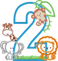 Zoo Safari Inspired Birthday (Monkey, Elephant, Giraffe & Lion)