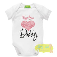 Fathers Day - Lace Love Heart (Pink)