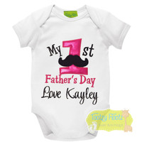 First Fathers Day - Mo Design (Pink)